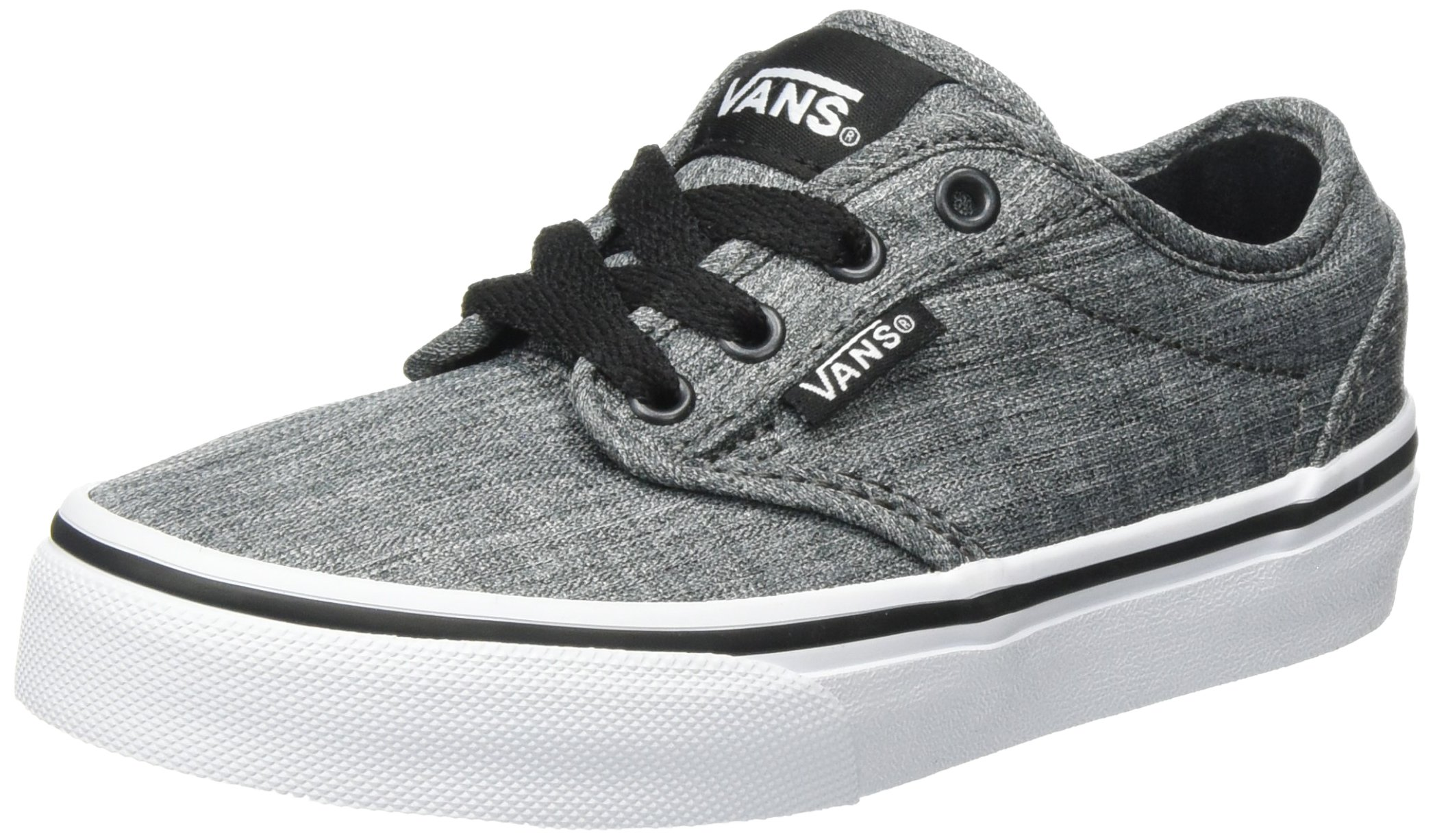 7f71d67fd0 Galleon - VANS KIDS ATWOOD SHOES ROCK TEXTILE BLACK WHITE SIZE 4.5