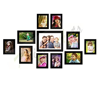 09ceda161f3 Buy KrishnArts Collage Photo Frame (Set of 11 Wall Photo Frames Black  Color) Online at Low Prices in India - Amazon.in