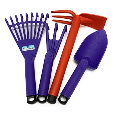 Mintra Home Gardening Tool Set 4pc (Hand Rake, Garden Claw, Cultivator, Shovel) (Set 7) : Garden & Outdoor