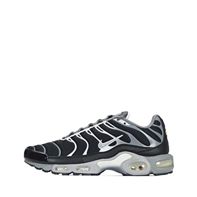 hot sale online 15638 f81e7 Nike Mens Air Max Plus Cool Grey Wolf Grey White Black Leather Running