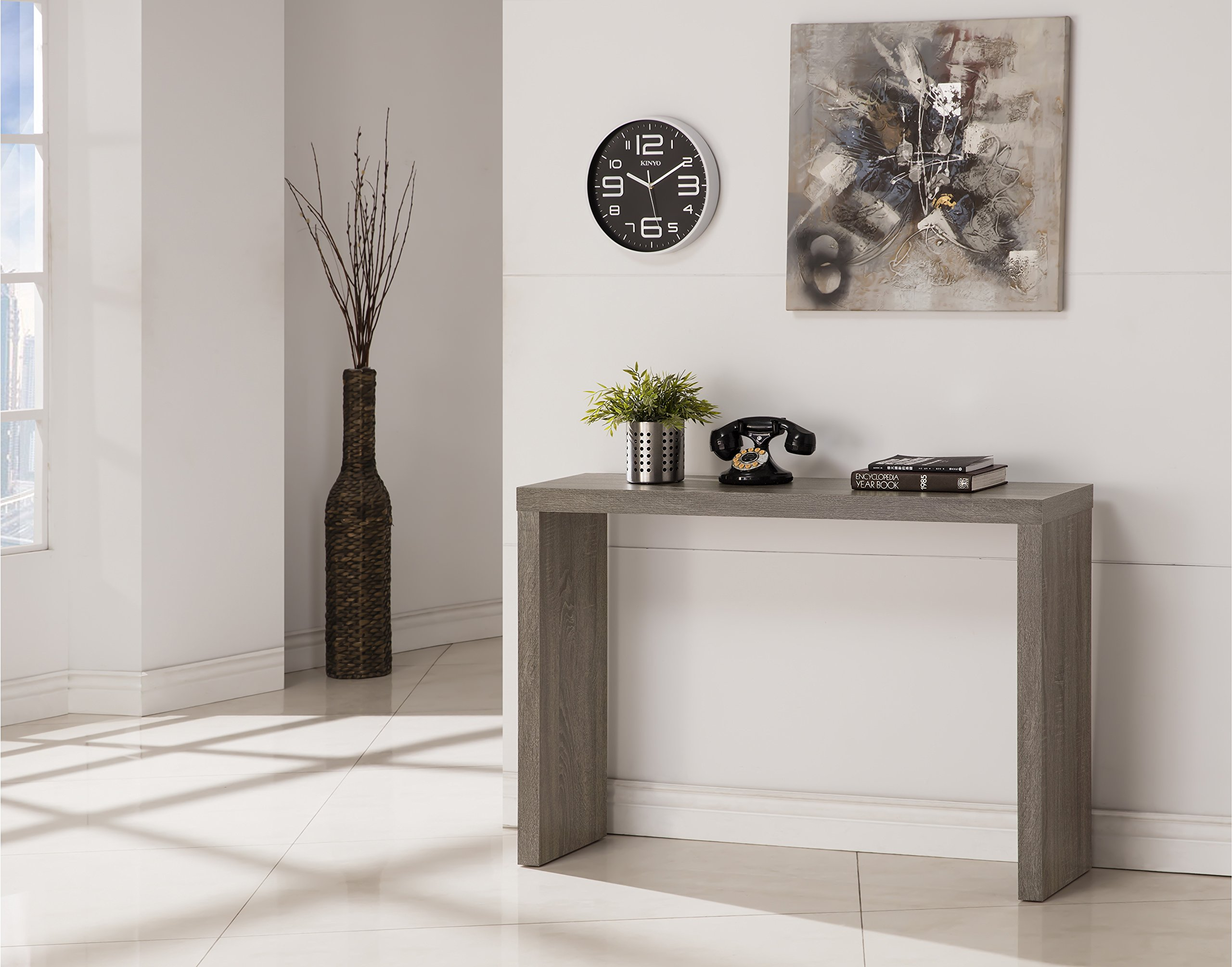 Weathered Grey Finish Modern Console Sofa Entry Table by eHomeProducts