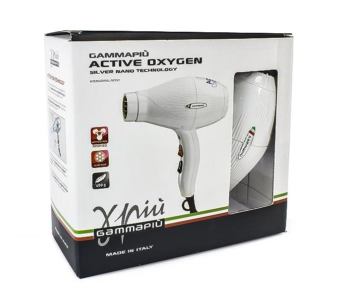 Gamma Piu Active Oxygen - Secador de pelo, color blanco: Amazon.es: Salud y cuidado personal