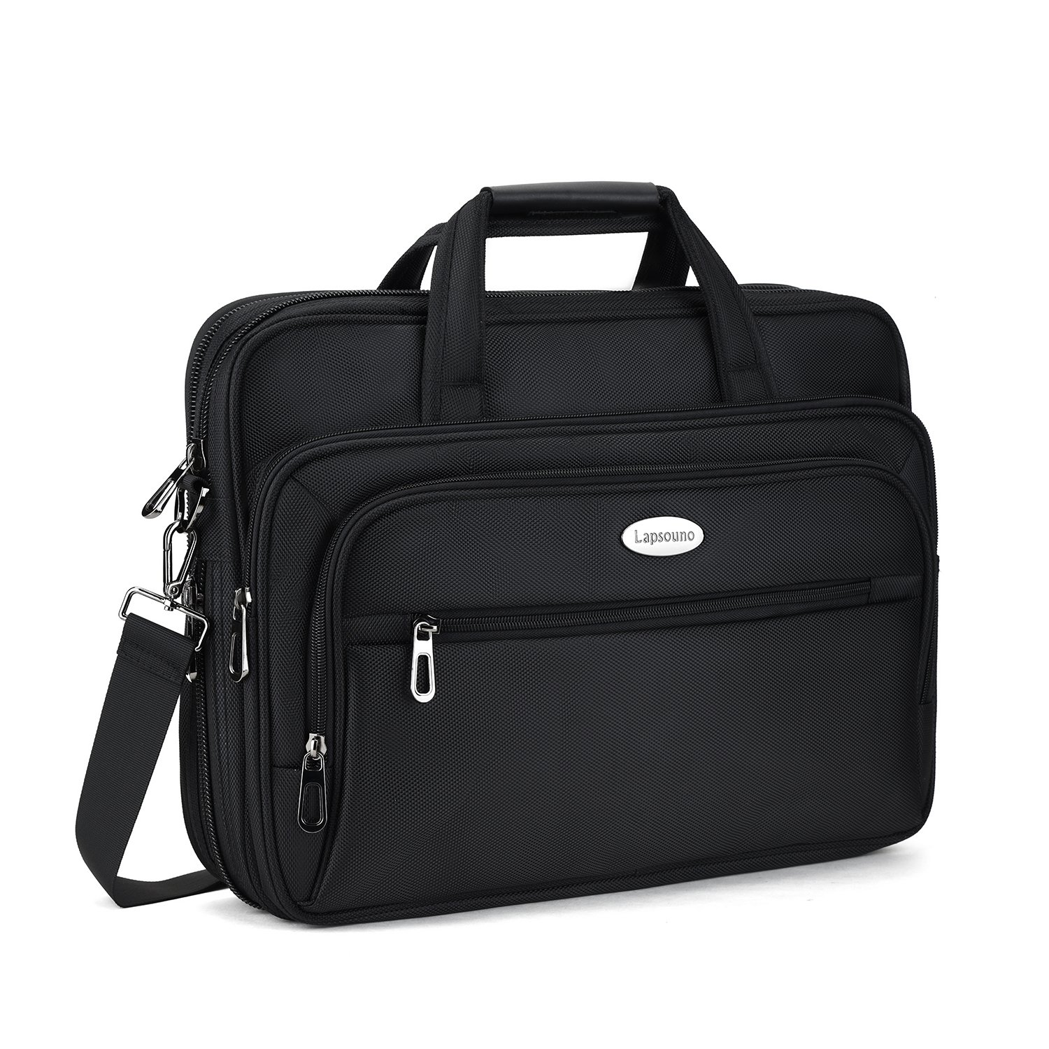 15.6 inch Laptop Briefcase, Expandable Large Shoulder Bag with Adjustable Shoulder Strap for Business Travel College Office Multi-function Shockproof Case Waterproof Messenger Handbag