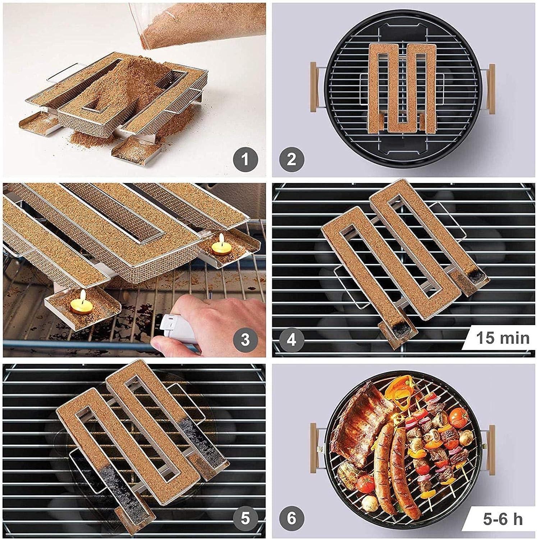 Fish Cheese Stainless Steel Pellet Smoke Generator Cooking Tool for Smoking Meat courti Maze Pellet Smoker