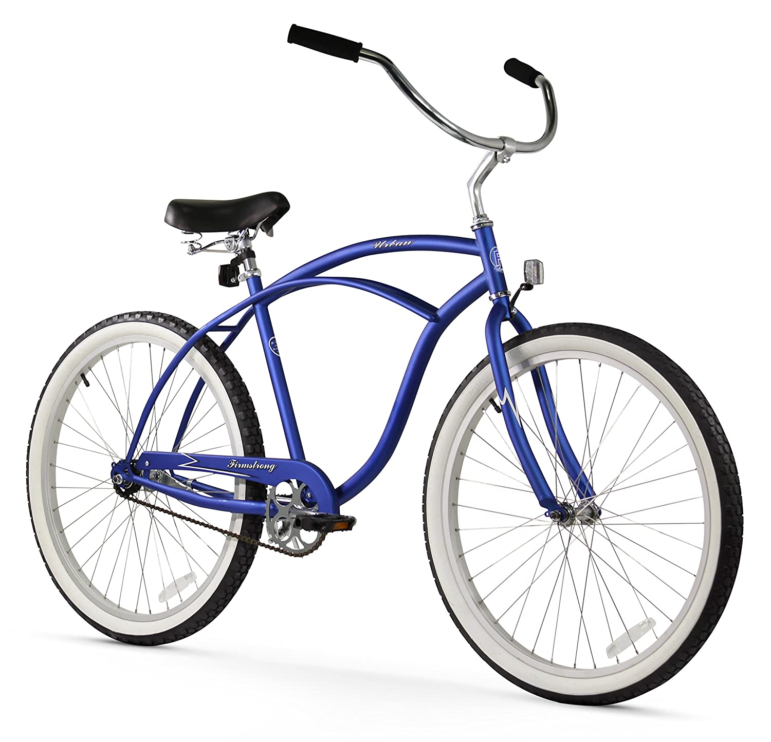 Firmstrong Urban Man Single Speed Beach Cruiser Bicycle, 24', Royal Blue 24 15253