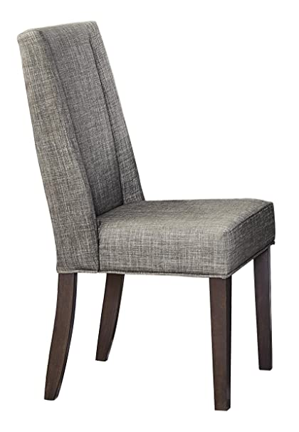 upholstered wingback dining chairs linen homelegance kavanaugh upholstered fabric wingback dining chairs gray set of amazoncom