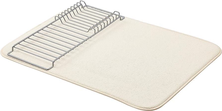 colore: Beige//nichel Basics con 2 tappetini 48 x 61 cm Supporto scolapiatti