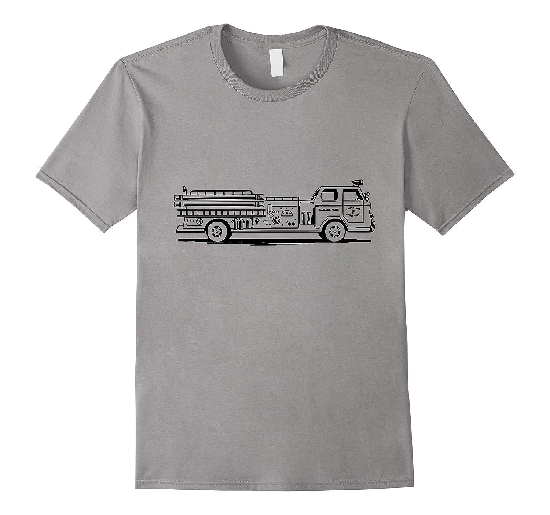Big Firetruck t-shirt Fireman Firefighter Rescue Vehicle-T-Shirt