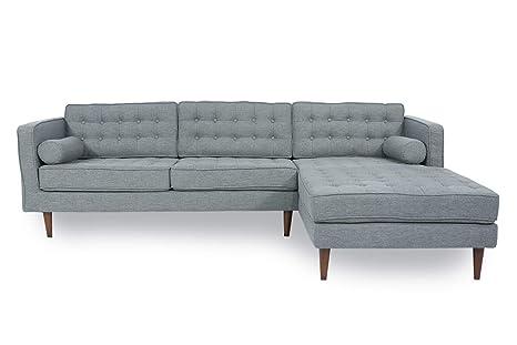 Amazon.com: Myers Goods Mid Century Sectional Sofa Palermo ...