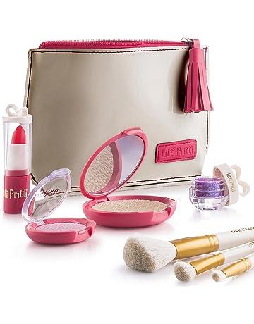 Litti Pritti Pretend Makeup For Girls Set - 8 Piece Cosmetic Play Makeup Kit - PU
