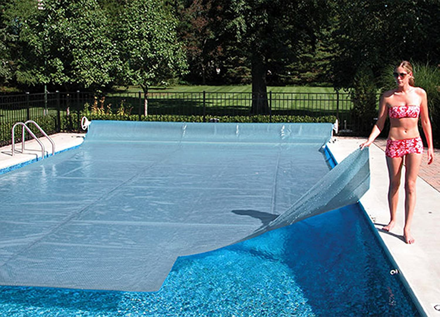 Rectangle Crystal Clear Swimming Pool Solar Heating Cover Blanket-16 Mil