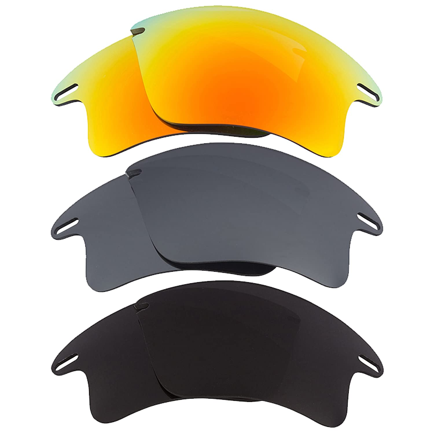 833abf5373d Fast Jacket XL Replacement Lenses Yellow Silver Black by SEEK fits OAKLEY  at Amazon Men s Clothing store