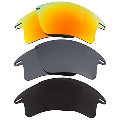 2ddc333ea2a Image Unavailable. Image not available for. Color  Fast Jacket XL  Replacement Lenses Yellow Silver Black by SEEK fits OAKLEY