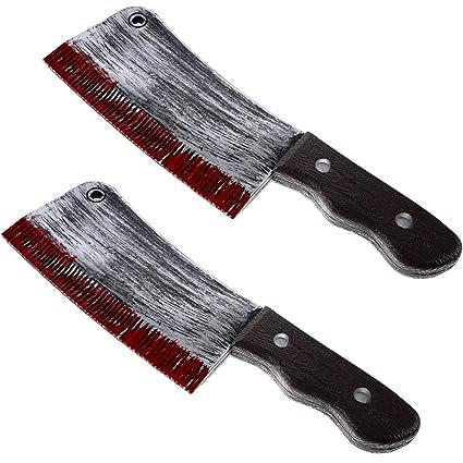 Boao 2 Piezas Cuchillo de Juguete Sangriento de Halloween ...
