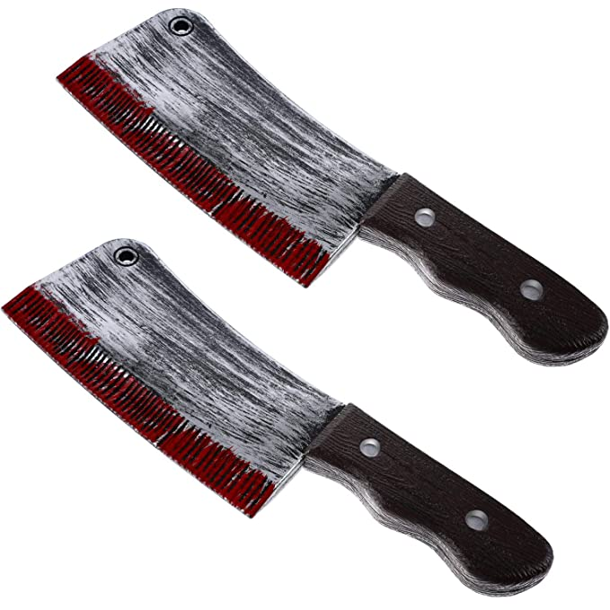 Amazon.com: 2 cuchillos de plástico sangriento para ...