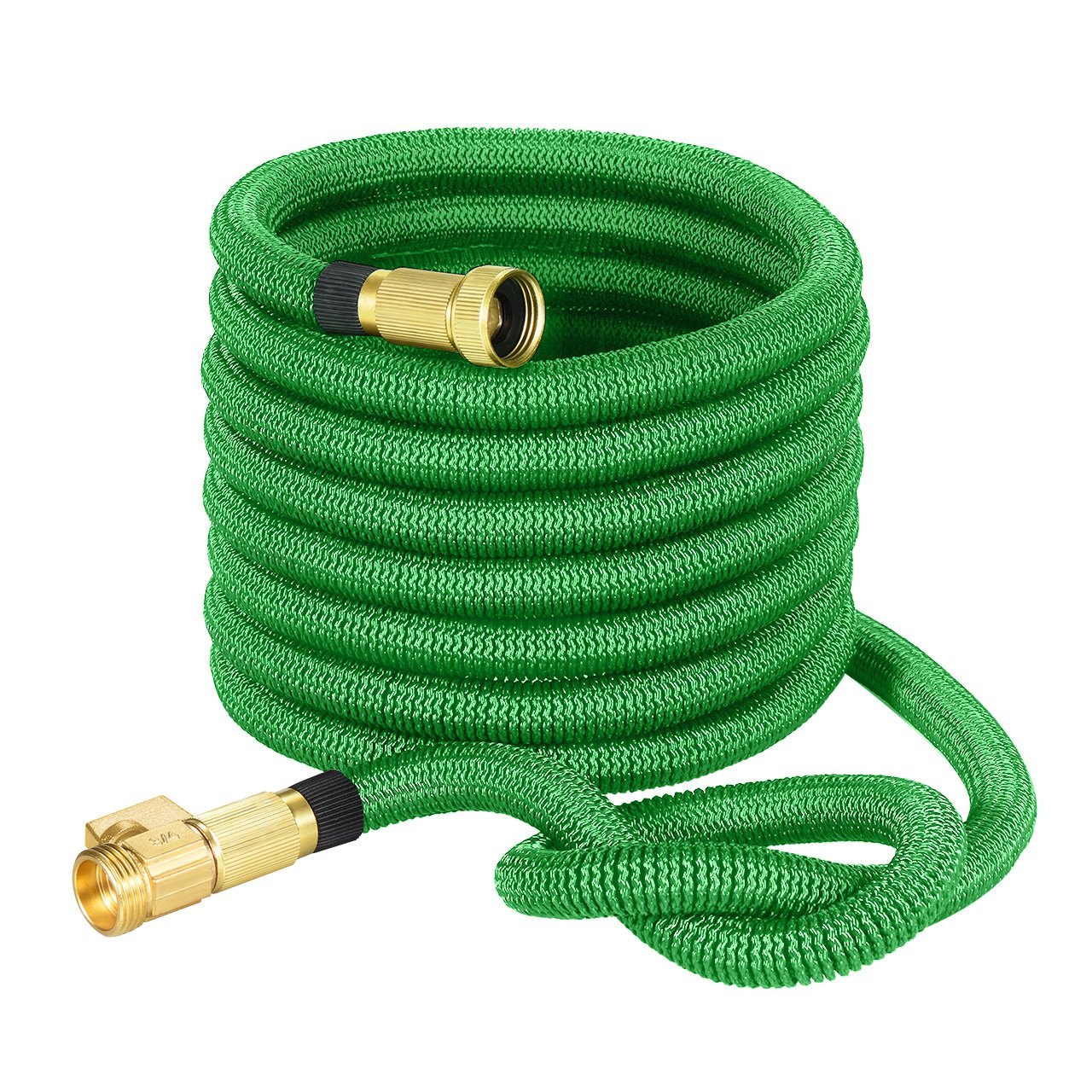 TopRay 50ft Garden Hose, Expandable Water Hose with Double Latex Core, 3/4'' Solid Brass Fittings & Extra Strength Fabric, Lightweight but More Durable, Free Storage Sack Gift Included