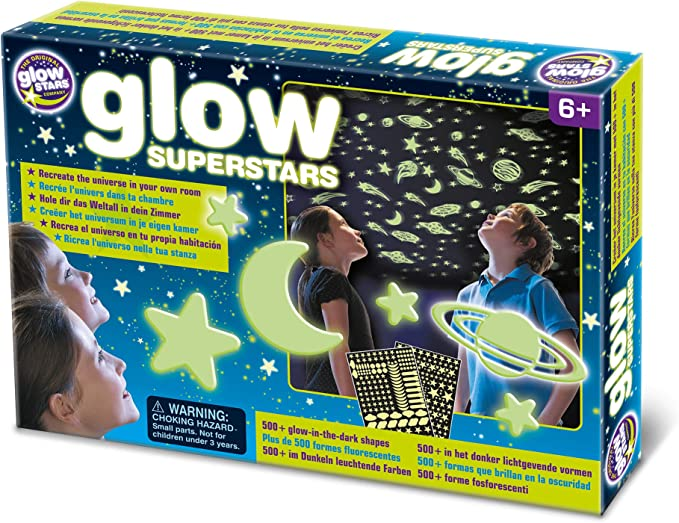 The Original Glowstars Glow Superstars Complete Glow In The Dark Set Designed For Children Ages 3 Years B8800 Toys Games Amazon Com