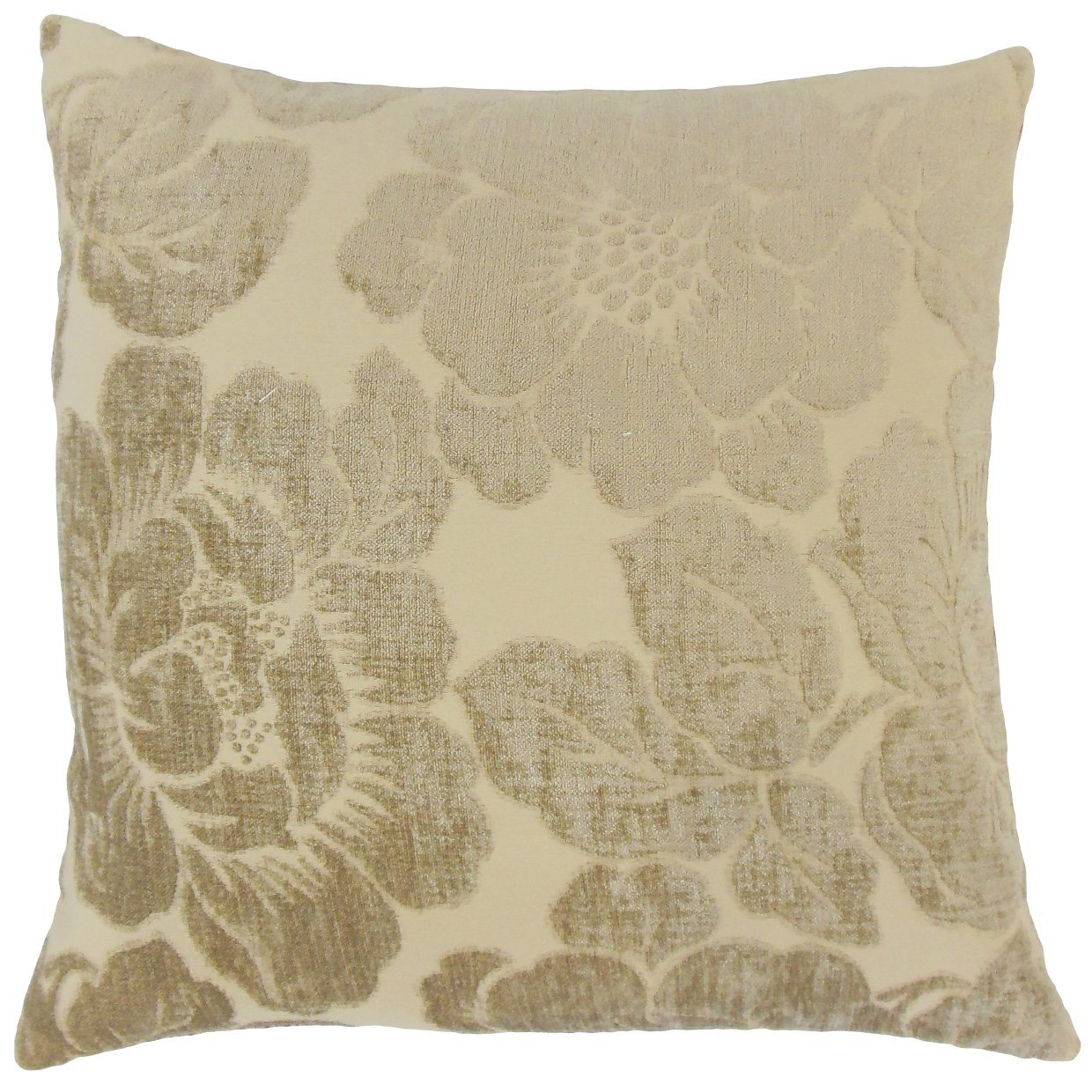 The Pillow Collection Sarafina Floral Bedding Sham Linen King//20 x 36