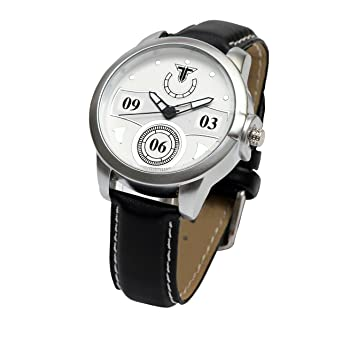 866284e02d17 Traktime Men s Women s New Edge White Toned Round Dial Wrist Watch for Men  Women