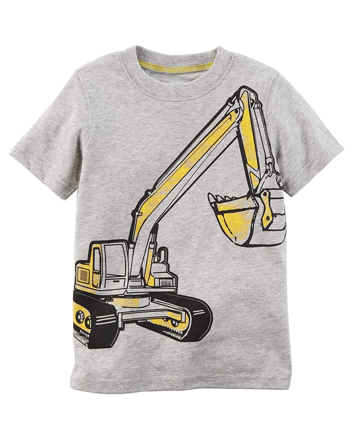 Carters Boys Backhoe Construction Jersey Tee 18m Gray