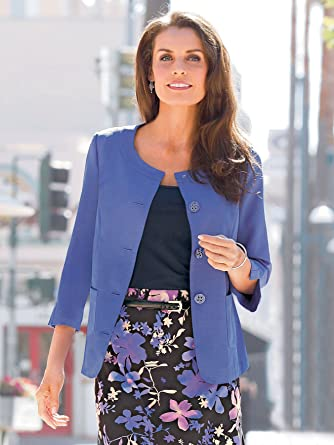 07315f2510b537 GS27 Les Essentiels The Essential Shape paletot Jacket - Blue - UK 18:  Amazon.co.uk: Clothing