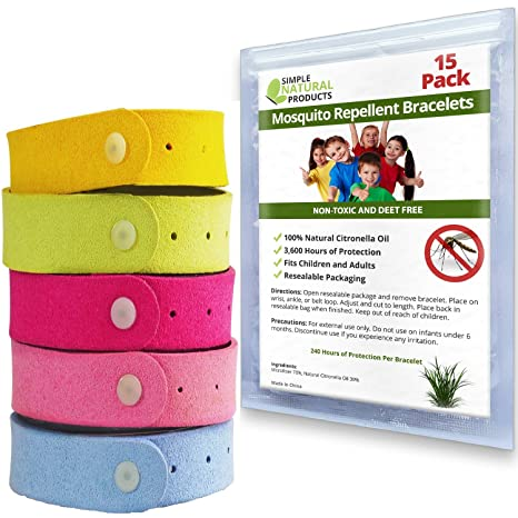 Amazoncom Simple Natural Products Mosquito Repellent Bracelet 15