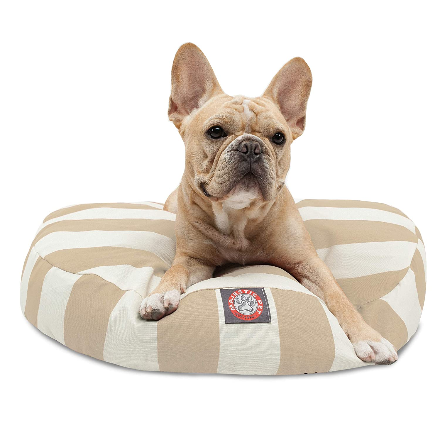 Majestic Pet greenical Stripe Sand Small Round Pet Bed