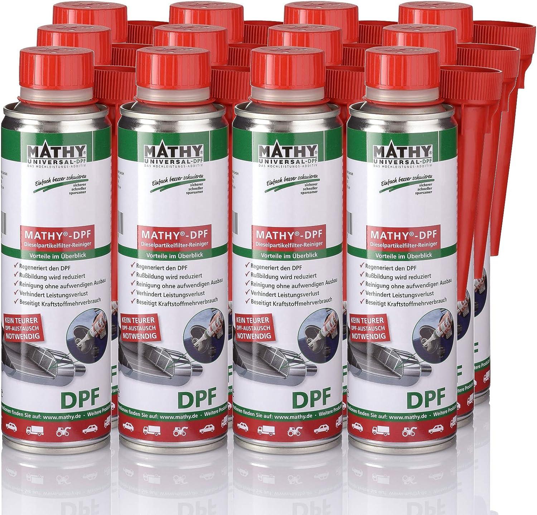 Mathy Dpf Dieselpartikelfilter Reiniger 12 X 300 Ml Diesel Additiv Partikelfilter Reiniger Einfache Anwendung über Den Tank Kraftstoffadditiv Auto