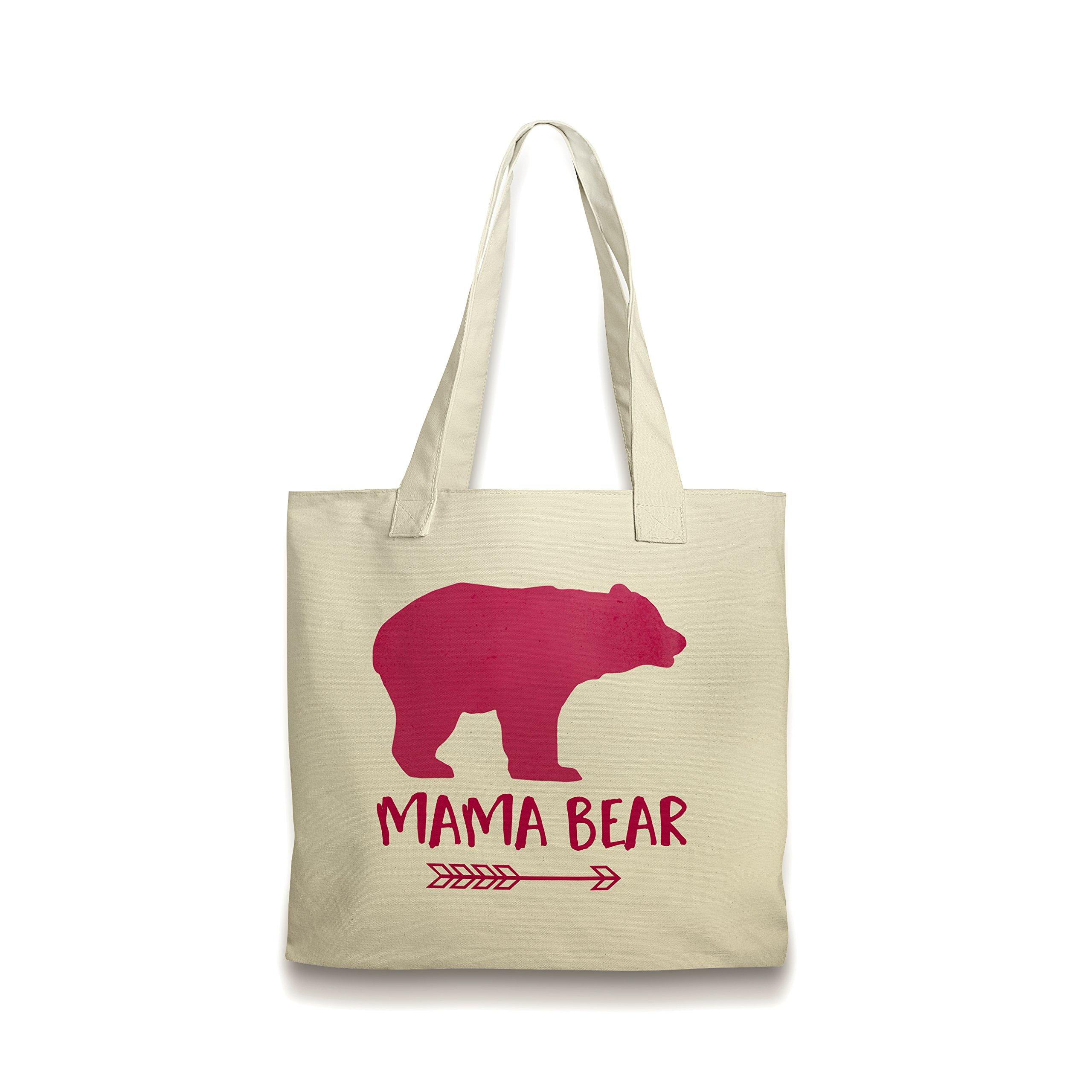Pink Mama Bear Canvas Tote Bag