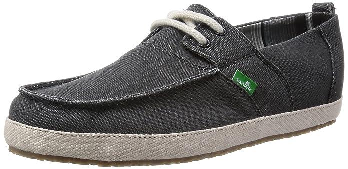Sanuk Men's Admiral Boat Shoe, Black