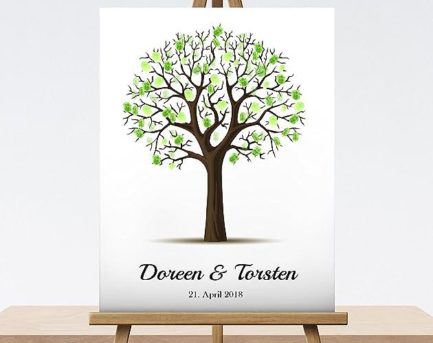 Fingerabdruck Baum Zur Hochzeit Leinwand Hochzeitsgeschenk