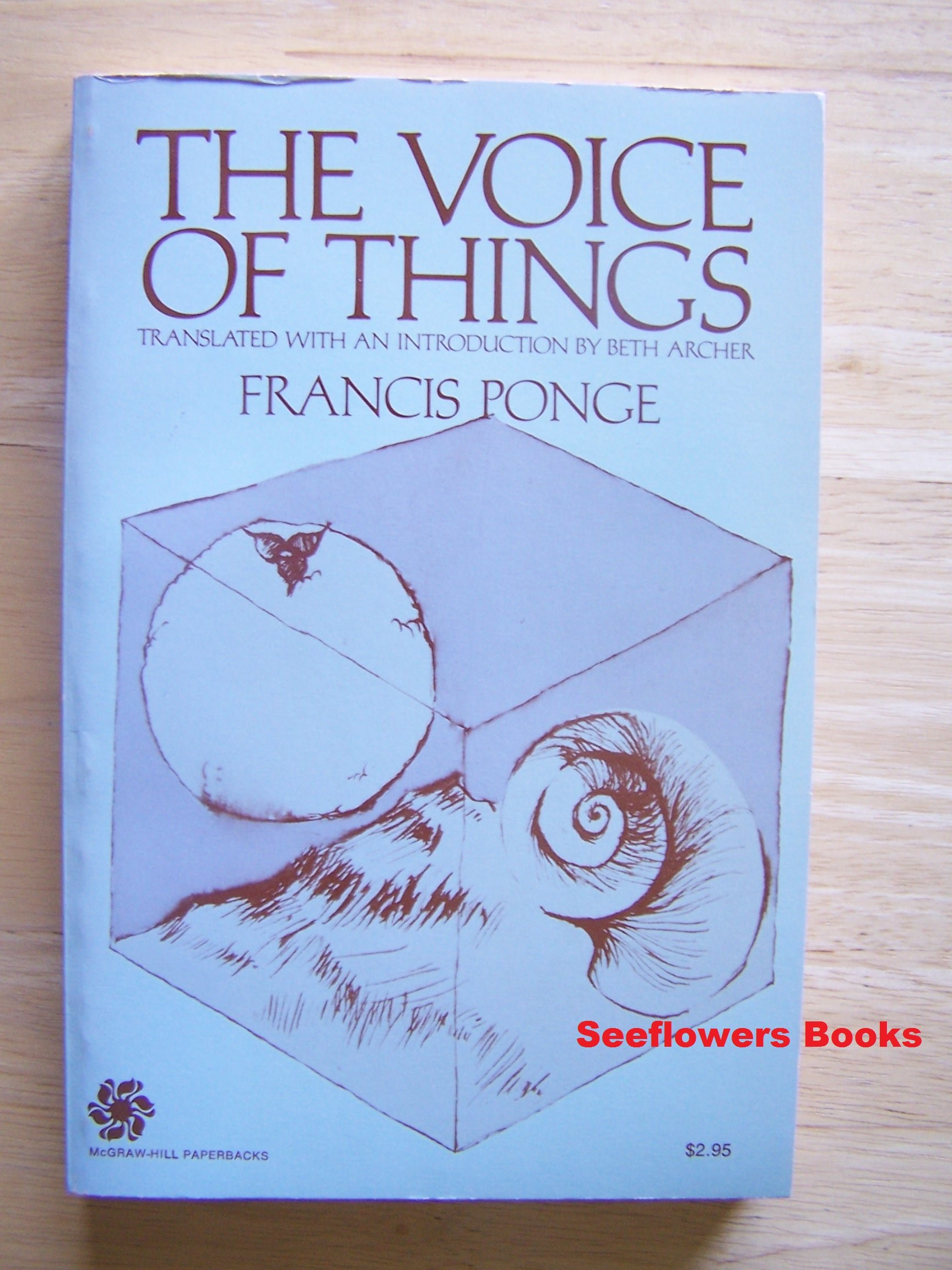 Image result for Francis Ponge The Voice of Things