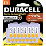 Duracell DA13B16ZM09 Easy Tab Hearing Aid Zinc Air Battery, 13 Size, 1.4V, 300 mAh Capacity (Pack of 16)