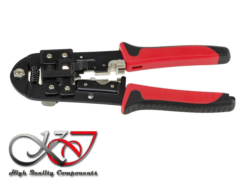 Crimpadora de Cables Red Ethernet Telefono RJ45 8P8C RJ12 6P6C RJ11 6P4C. CAT5e 6: Amazon.es: Electrónica