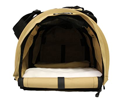 73cbda7d29 Sturdi Products StrudiBag Double Sided Divided Pet Carrier, Large, Earthy  Tan