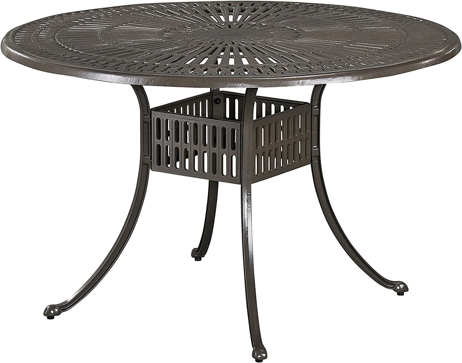 Largo Taupe Outdoor Round Dining Table, 48 by Home Styles