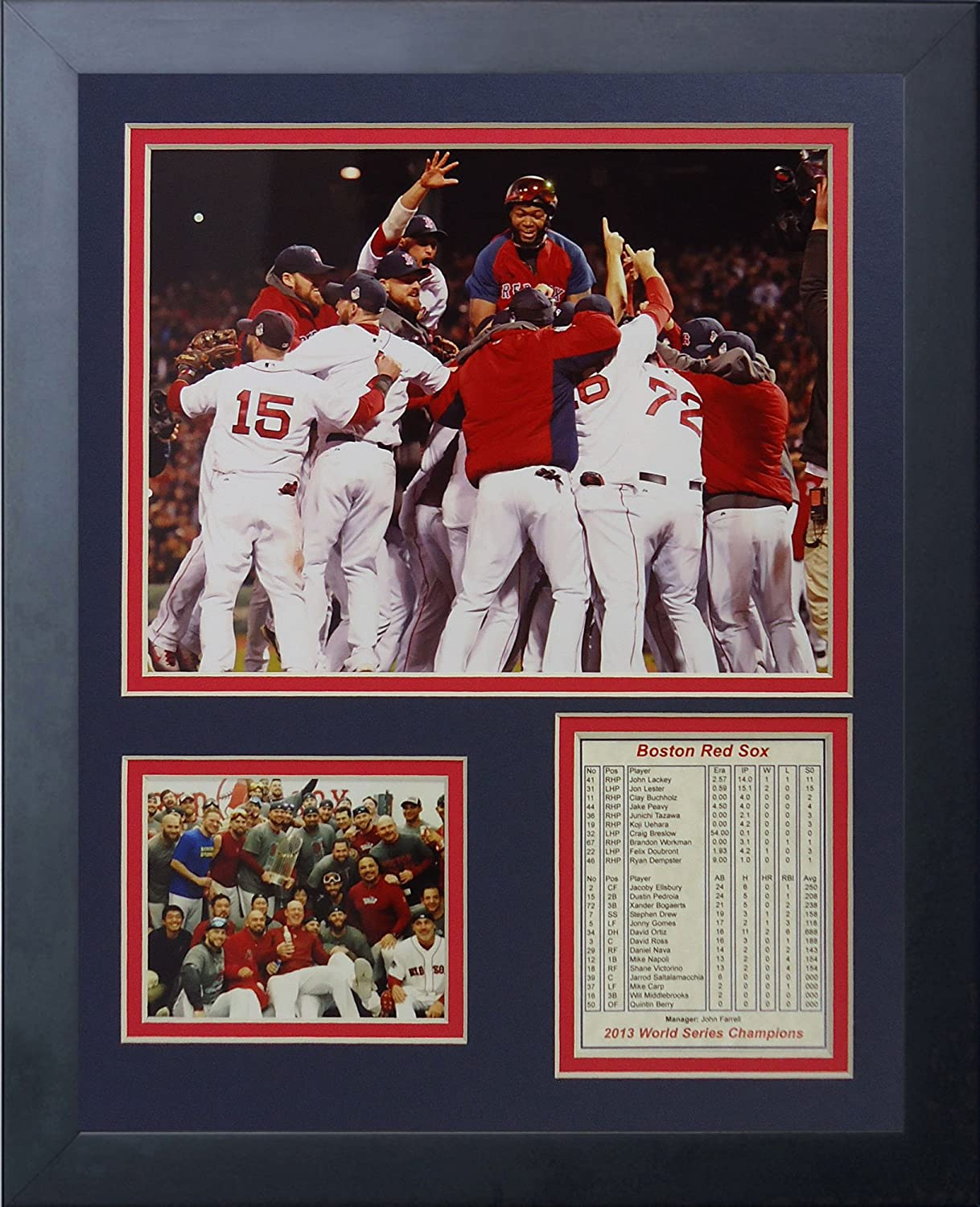 11 x 14-Inch Legends Never Die 2013 Boston Red Sox World Series Champions Huddle Framed Photo Collage