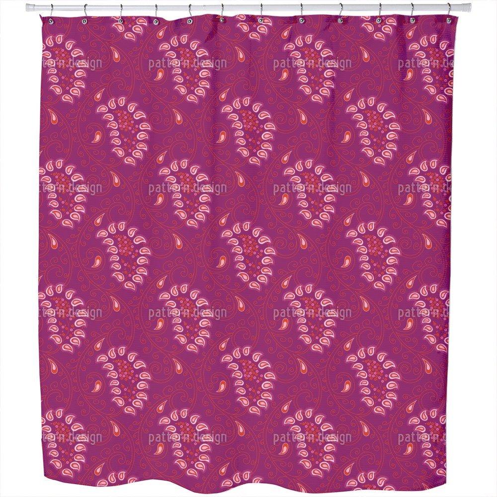 Uneekee Exotic Tendrillars Purple Shower Curtain: Large Waterproof Luxurious Bathroom Design Woven Fabric