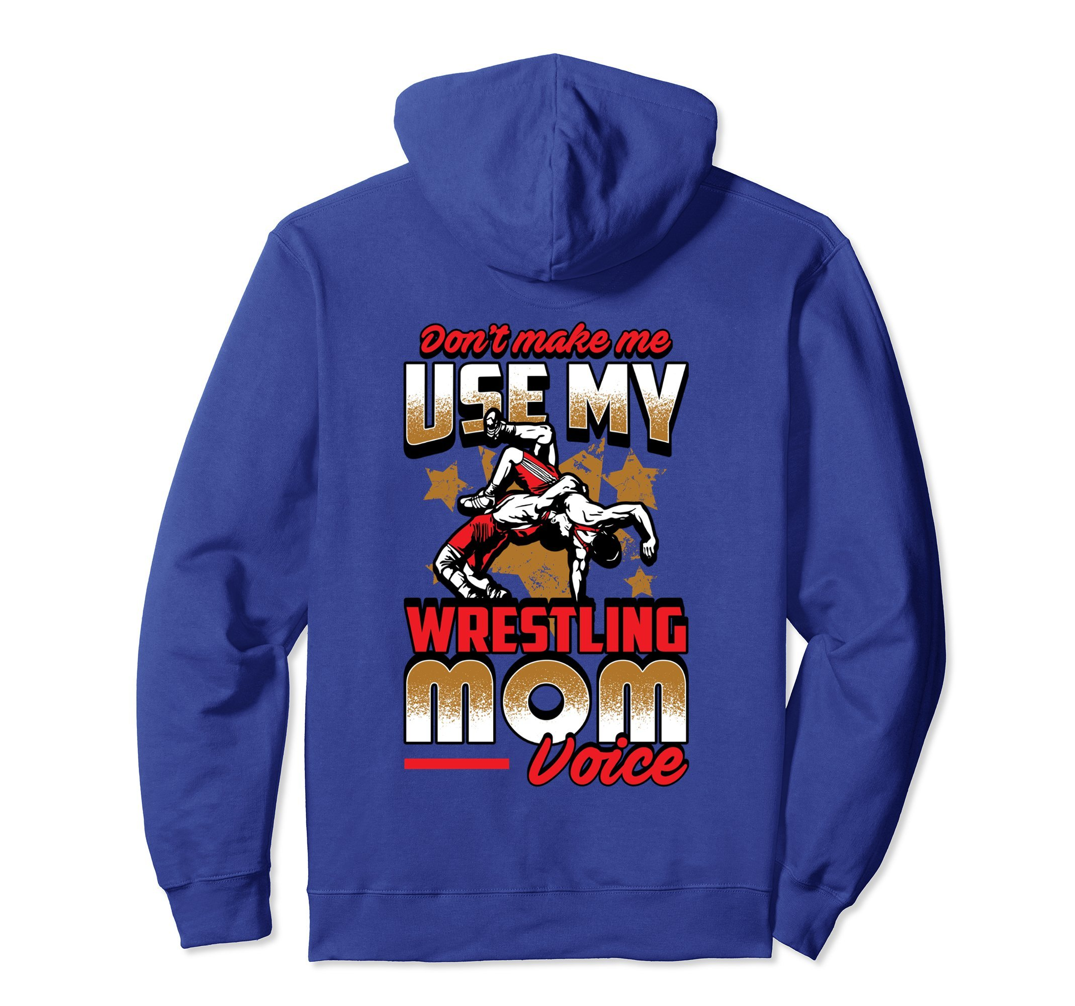 Unisex Wrestling Hoodie - Wrestling Mom Voice Sweatshirt Large Royal Blue by Wrestling Shirt by Crush Retro