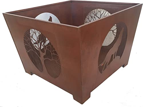 Esschert Design FF1007 Series Wolf Fire Basket