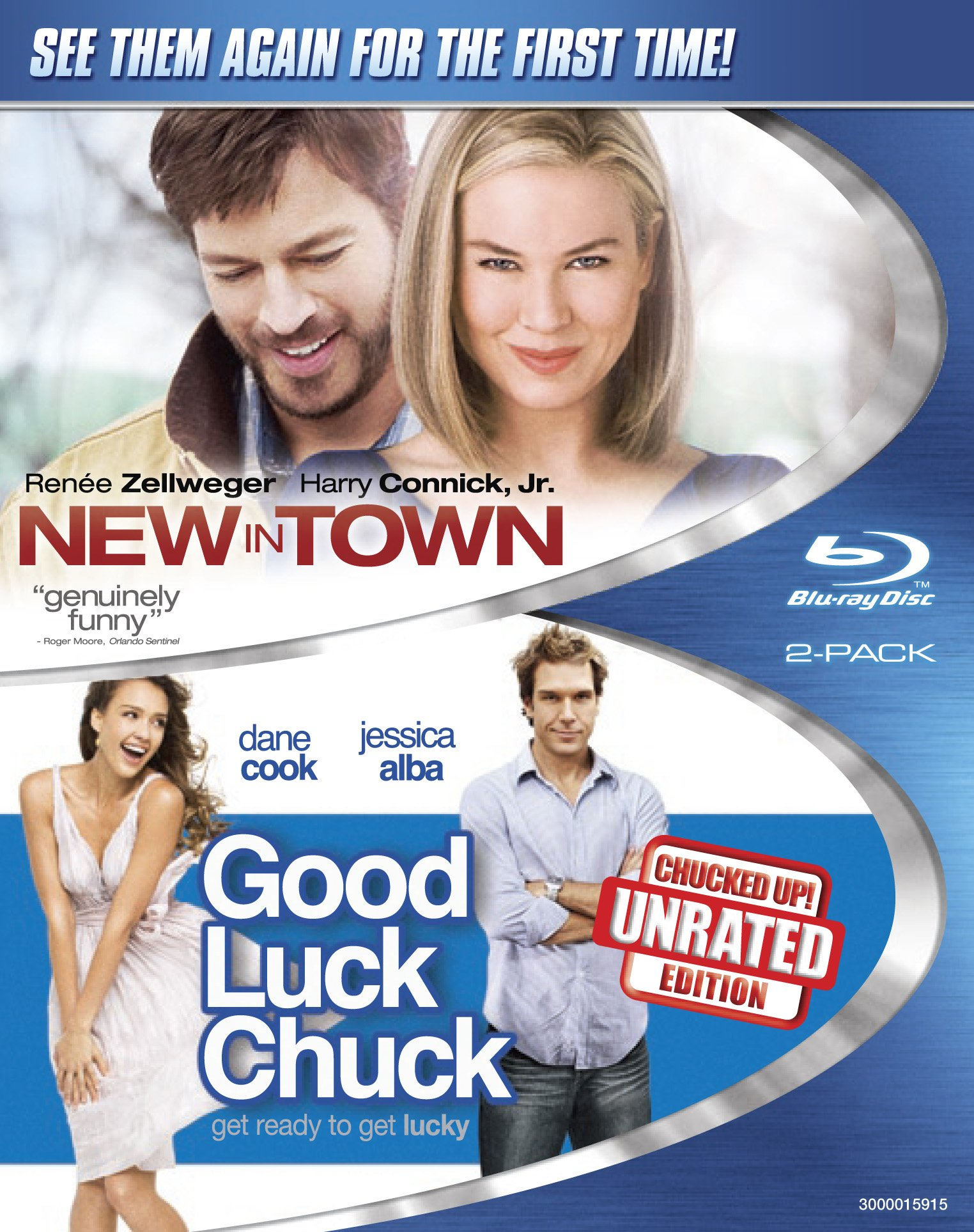 Blu-ray : New in Town / Good Luck Chuck (Widescreen, 2 Disc)