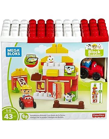 Mega Bloks Disney Megabloks Construcción Amigos Granja con 43 Piezas Color Blanco/Rojo Mattel Spain