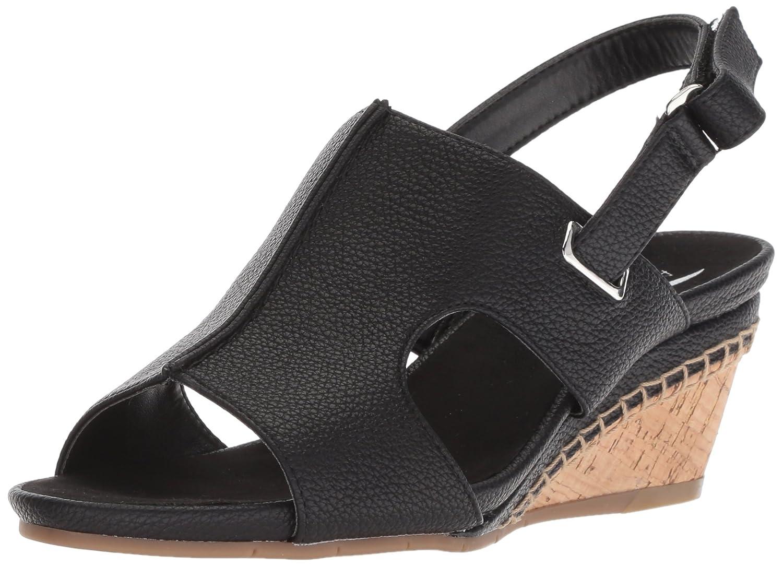 Black Soft Aerosoles Womens Shortcake Sandal