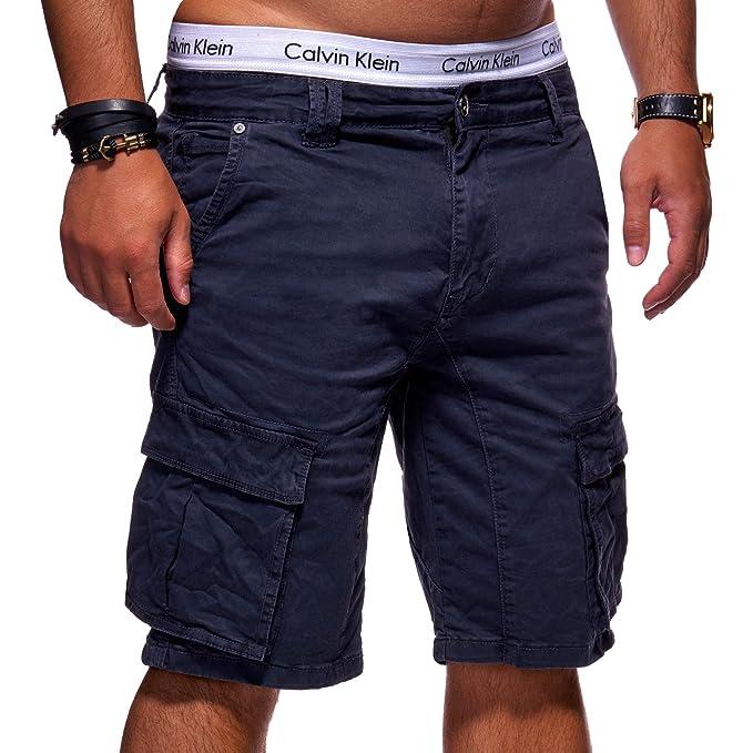 0ac150bed9d13a MT Styles Herren Cargo-Shorts Bermuda Kurze Hose Chino X-6720 [Dunkelblau,