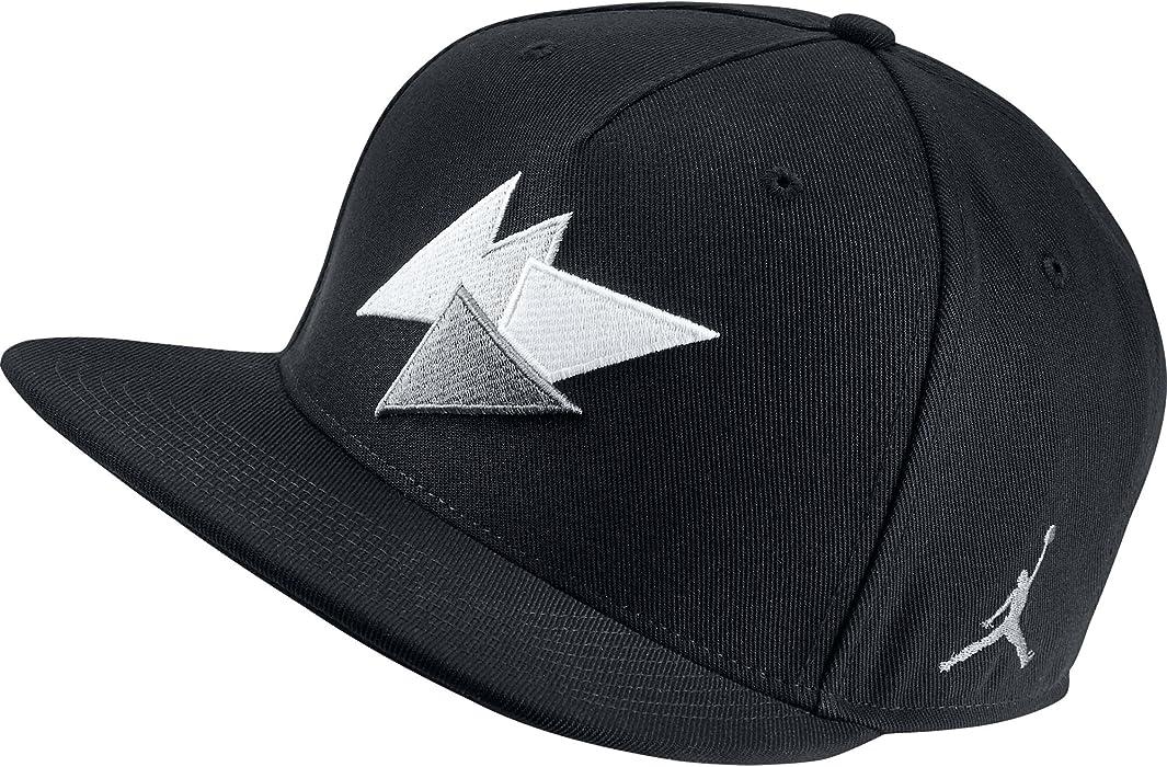 Amazon.com  Jordan 7 Unisex Snapback Hat Cap Black Grey White 843075 ... ec93e78094ac