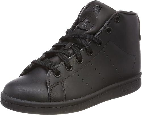 aeronave Perdóneme presión  adidas Unisex Stan Smith Mid Hi-Top Trainers, Black (Core Black/Core  Black/Core Black 0), 3.5 UK: Amazon.co.uk: Shoes & Bags