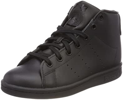 Amazon.com | adidas Originals Stan Smith Mid Ladies Footwear Black Womens Trainers Sneaker Shoes | Fashion Sneakers