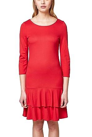 0e4a7aee6a7e ESPRIT Damen Kleid 038EE1E009, Rot (Red 630), X-Small