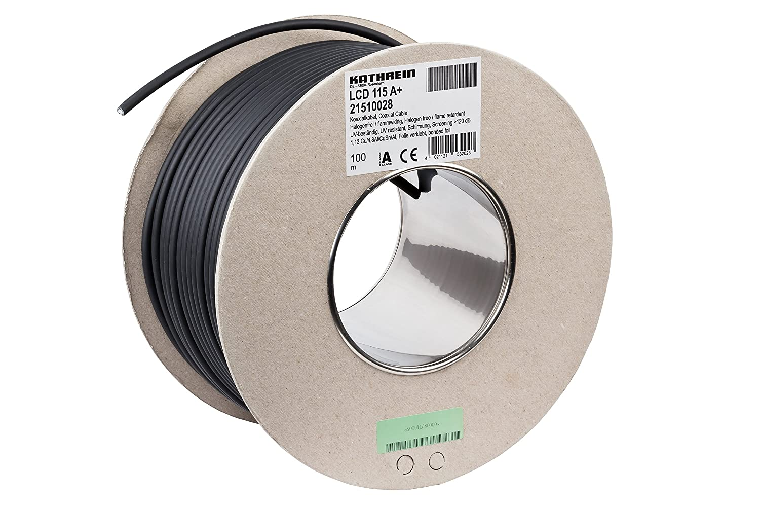 Kathrein LCD 115 A+ - Cable coaxial (100 m, Negro, 75 Ω, Cobre, -25 ...