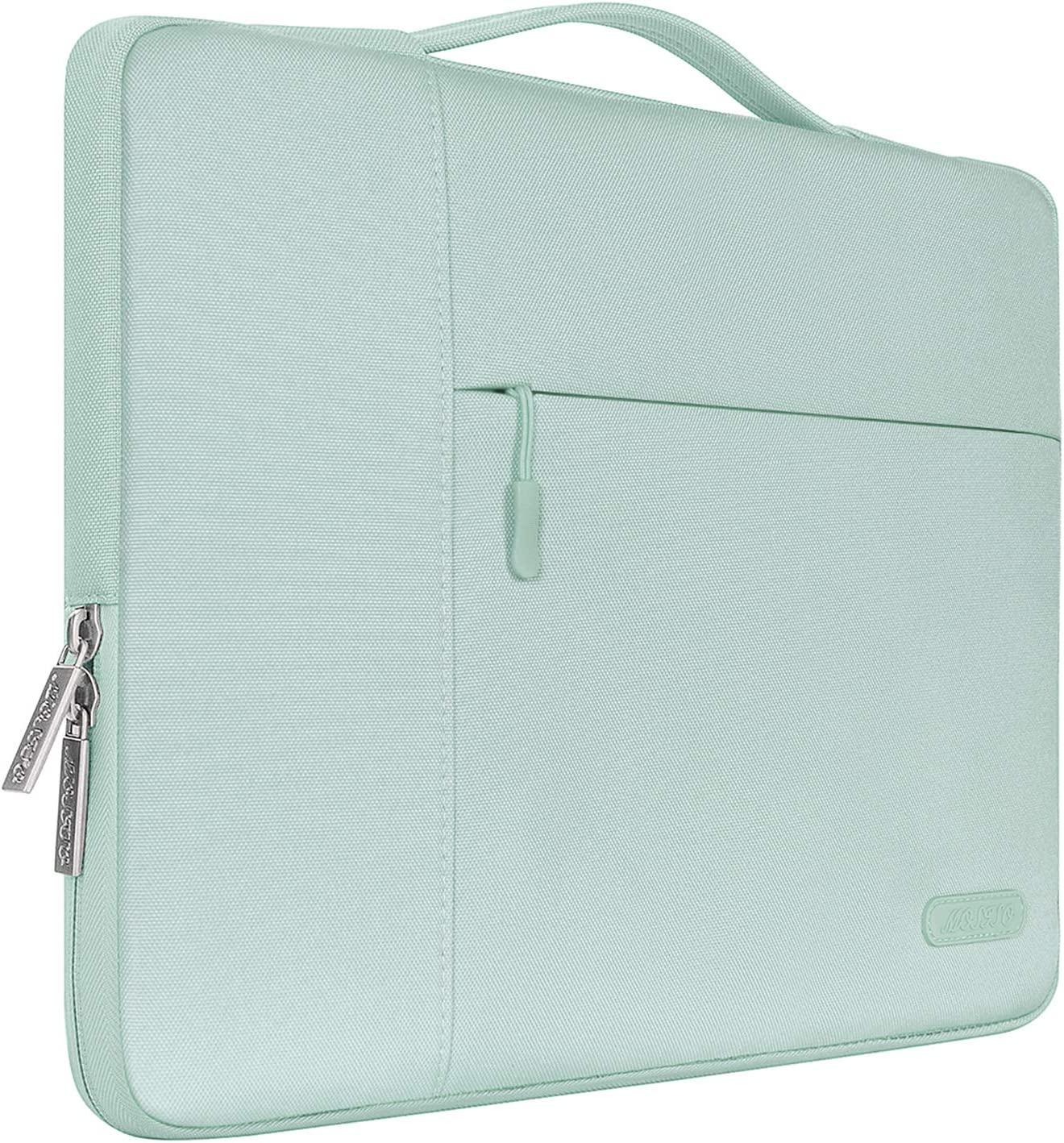 MOSISO Laptop Sleeve Compatible with MacBook Pro 16 inch with Touch Bar A2141, 15 15.4 15.6 inch Dell HP Asus Acer Samsung Sony Chromebook, Polyester Multifunctional Briefcase Bag, Mint Green
